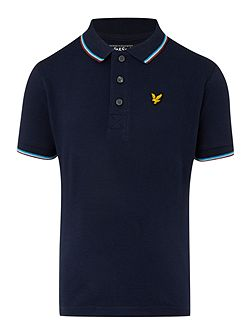 Boys Short Sleeve Classic Tipped Polo