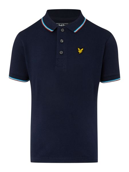 Lyle and Scott Boys Short Sleeve Classic Tipped Polo