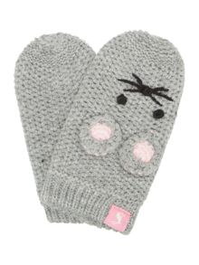 Joules Girls Baby Mouse Knitted Mittens