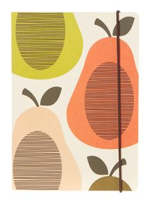 Orla Kiely A5 Scribble pear notebook