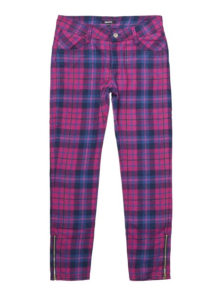 DKNY Girls checked trousers