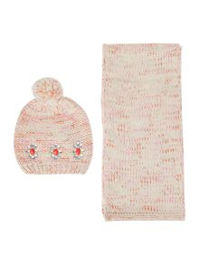Billieblush Girls hat and scarf set