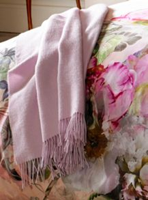 Ted Baker Arlo Pink Throw