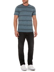 Criminal Derek Stripe Crew Neck T-Shirt