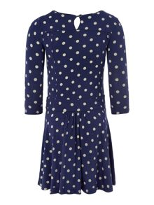 Girls Long sleeved polka dot dress