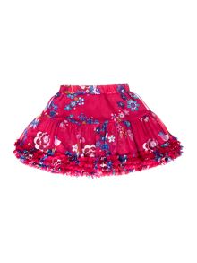 Joules Girls Floral Print Tutu Style Skirt