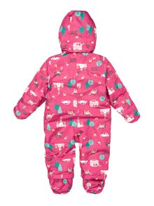 Girls Gymkhana Print Snowsuit