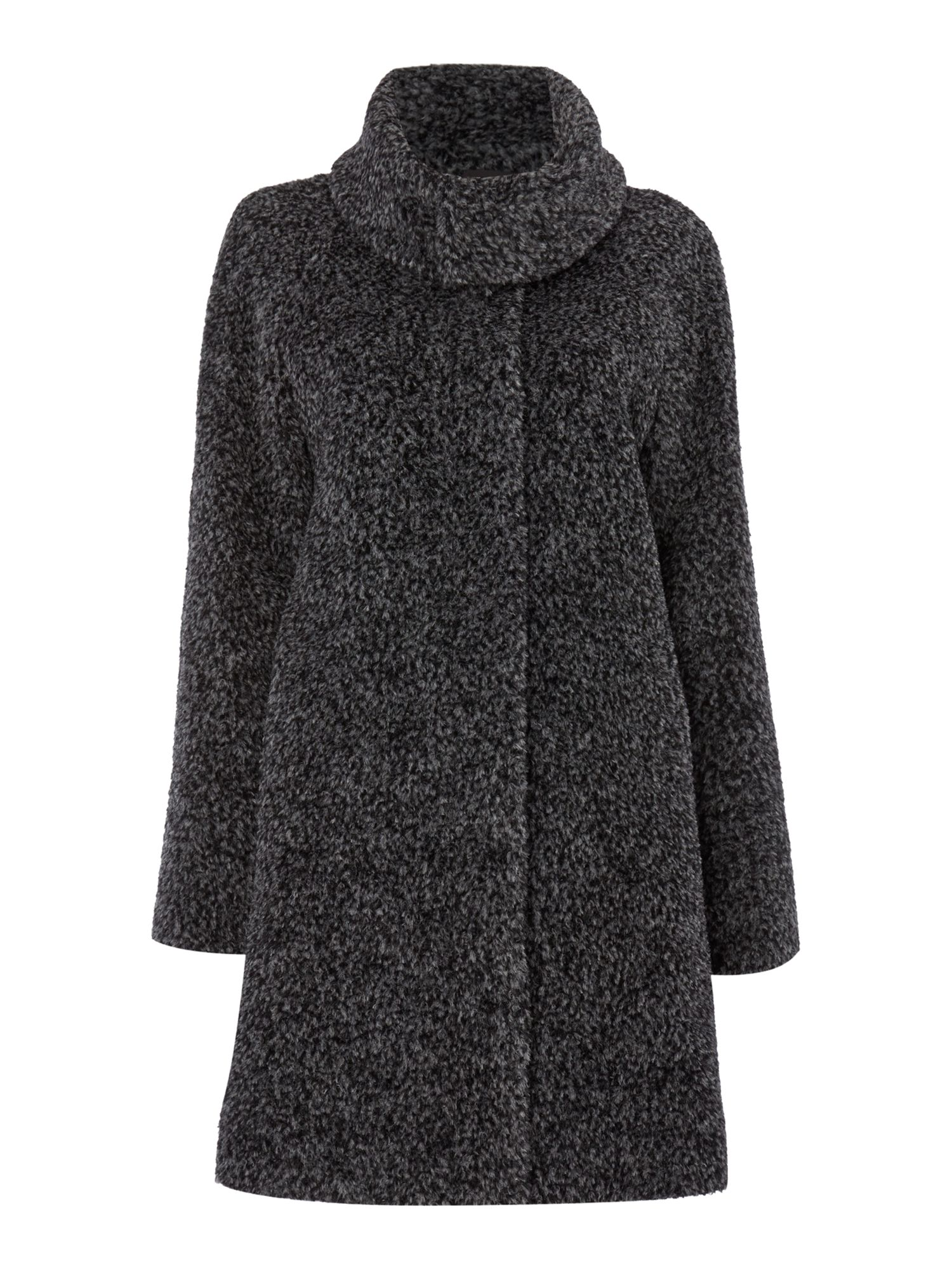 Max Mara Gregory alpacca funnel neck coat, Grey
