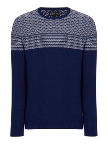 Army & Navy Barberry Pattern Crew Neck Jumper