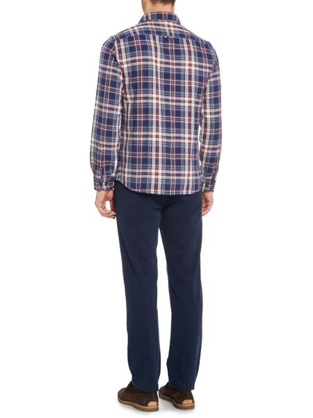 Army & Navy Check Classic Fit Long Sleeve Button Down Shirt