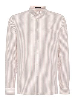 Halifax Oxford Long Sleeve Striped Shirt