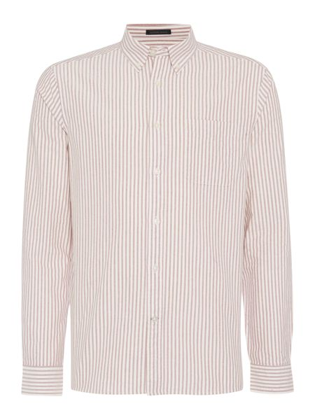 Howick Halifax Oxford Long Sleeve Striped Shirt