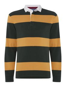Haywood Striped Long Sleeve Rugby Top