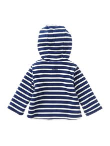 Boys Striped Reversible Hooded Fleece Sweatshirt