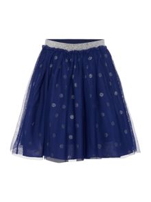 Girls Glitter Spot Ruffle Skirt