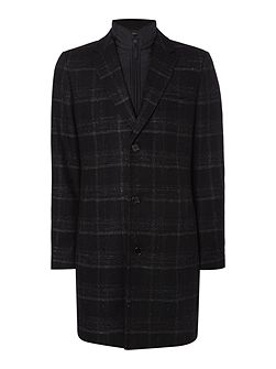 Logan Crombie Check Coat with Gilet Insert