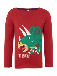Boys Dinosaur Logo Long Sleeved Top