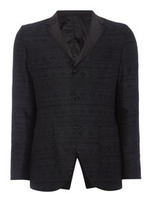Sisley Men Reversible Printed Blazer