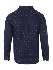 Boys Long Sleeve All Over Pattern Shirt