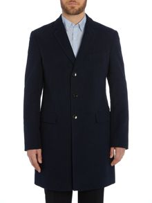 Hugo Boss Neel Brushed Cotton Overcoat