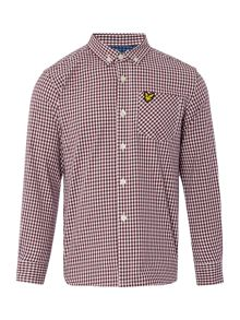 Lyle and Scott Boys Long Sleeve Gingham Check Shirt