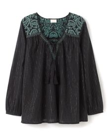 Embroidered Lurex Blouse