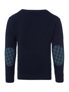Boys Long Sleeved Textured Crew Neck Jumper