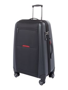 Linea Hylite II black 8 wheel medium suitcase