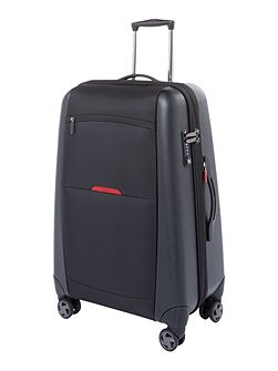 Hylite II black 8 wheel medium suitcase