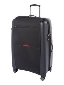 Hylite II black 8 wheel large suitcase