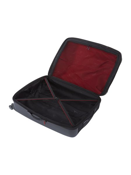 Linea Hylite II black 8 wheel large suitcase