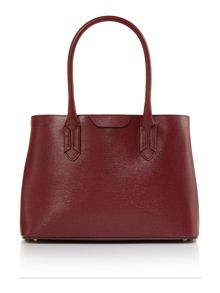Tate burgundy large tote bag