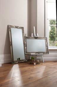 Hampshire rectangle silver mirror 114 x 84 cm