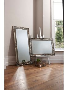 Linea Hampshire rectangle silver mirror 114 x 84 cm