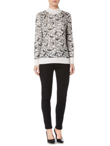 Pied a Terre Wolf print jumper