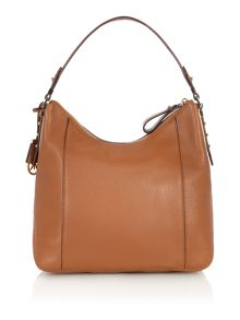 Bowery tan large hobo bag