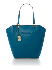 Lexington blue large tote bag