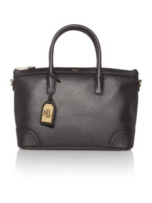 Fairfield black medium satchel