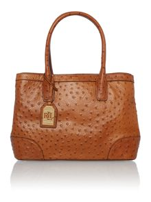 Fairfield tan large embossed ostrich tote