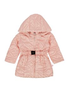 Baby girls hooded puffer jacket
