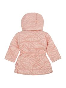 DKNY Baby girls hooded puffer jacket