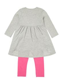 Baby girls dress and leggings set