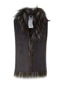 DKNY Girls faux fur jacket