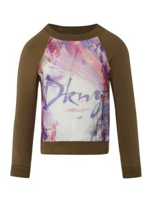 DKNY Girls fleece sweater