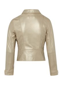 DKNY Girls leather jacket