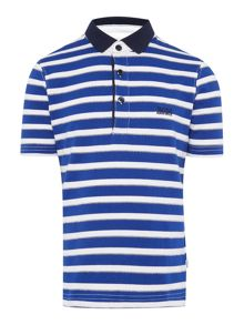 Boys striped short sleeves polo shirt