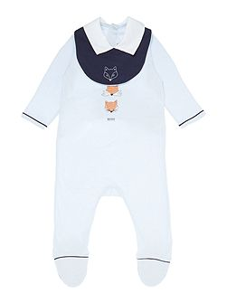 Baby boys set of pyjamas and bib