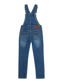 Girls denim dungarees