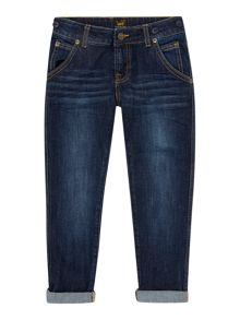 Boys tapered denim trousers