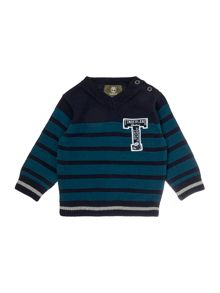 Baby boys knitted striped sweater